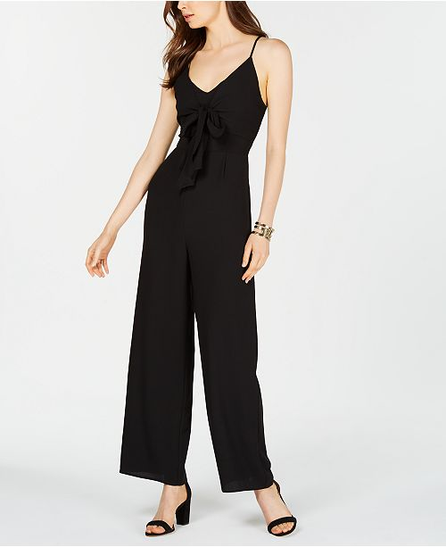 48717e82ee1 19 Cooper Sleeveless Tie-Front Jumpsuit   Reviews - Dresses - Women ...
