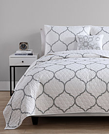 VCNY Home Ogee 3-Pc. Twin/XL Metallic Quilt Set