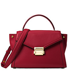 MICHAEL Michael Kors Whitney Polished Leather Top Handle Satchel