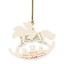 Lenox 2018 Baby's First Christmas Rocking Horse Ornament, Created for Macy's
