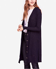 Free People Sparkly Button-Up Duster Cardigan