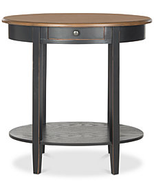 Monica Oval End Table, Quick Ship