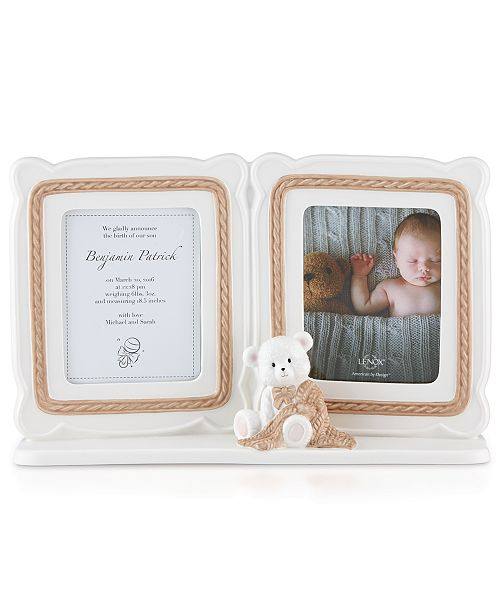 Lenox Baby Bear 5x7 Double Frame - Picture Frames - Macy\'s