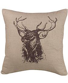 """18""""x18"""" Elk Bust Pillow"""