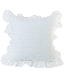 "Ruffled Flange Eyelet 18""x18"" Pillow"