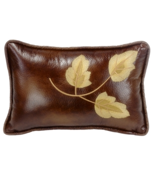 12x19 Embroidery Leaf Pillow