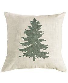 "18""x18"" Green Pine Tree Pillow"