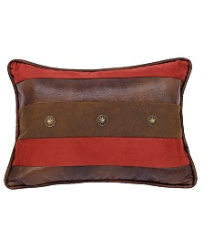 """12""""x18"""" Faux Leather Pillow"""