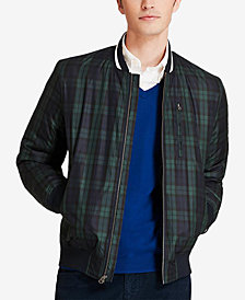 Brooks Brothers Men's Blackwatch Bomber Jacket