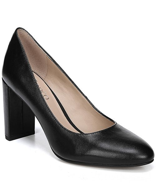 bf25050f21c1 Franco Sarto Vanity Block-Heel Pumps   Reviews - Pumps - Shoes - Macy s