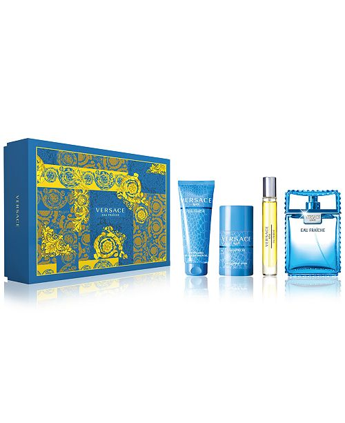 Versace Men s 4-Pc. Eau Fraîche Gift Set   Reviews - All Perfume ... 1d047ca365e14
