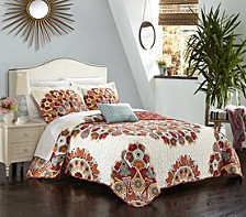 Rouen 4 Piece Queen Quilt Set