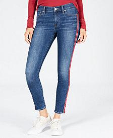 Lucky Brand Ava Varsity-Stripe Skinny Ankle Jeans
