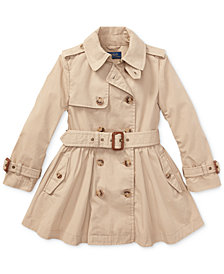 Polo Ralph Lauren Toddler Girls Cotton Trench Coat
