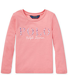 Polo Ralph Lauren Little Girls Graphic Cotton Long-Sleeve T-Shirt