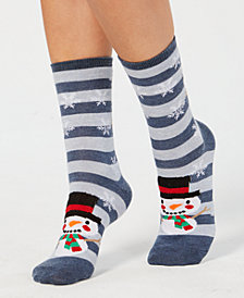 Charter Club Women's Snowman Socks, Created for Macy's