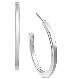 Alfani Silver-Tone Large Open Hoop Earrings, Created for Macy's