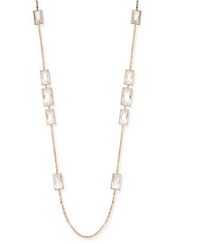 "Alfani Crystal Station Necklace, 42"" + 2"" extender, Created for Macy's"