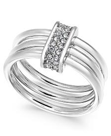 Alfani Pavé Link Triple-Row Ring, Created for Macy's