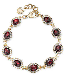 Charter Club Gold-Tone Pavé & Stone Link Bracelet, Created for Macy's