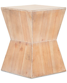 Lotem Curved Square Accent Table, Quick Ship