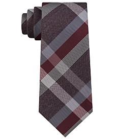 Kenneth Cole Reaction Men's Ruby Plaid Slim Tie
