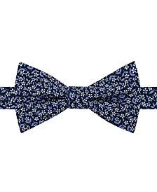 Tommy Hilfiger Men's Micro Floral Pre-Tied Bow Tie