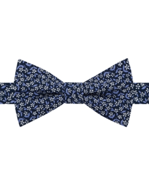 Edwardian Men's Fashion & Clothing Tommy Hilfiger Mens Micro Floral Pre-Tied Bow Tie $23.99 AT vintagedancer.com