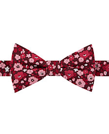 Tommy Hilfiger Men's Large Floral Pre-Tied Bow Tie