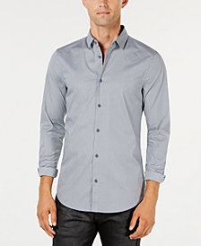 A|X Armani Exchange Men's Micro-Grid Shirt