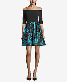 Betsy & Adam Petite Off-The-Shoulder Dress