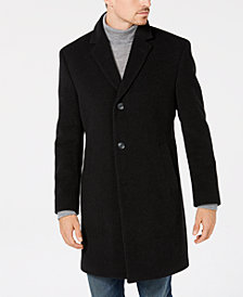 Nautica Men's Classic/Regular Fit Wool Blend Solid Overcoat