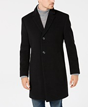 541e9237 Nautica Men's Classic/Regular Fit Wool/Cashmere Blend Solid Overcoat