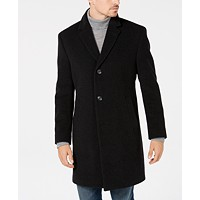 Macys deals on Nautica Mens Classic/Regular Fit Wool/Cashmere Blend Solid Overcoat