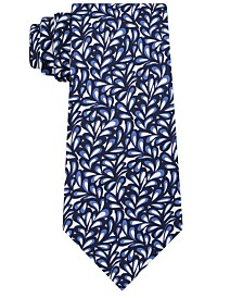 Sean John Men's Abstract Floral Geo Silk Tie