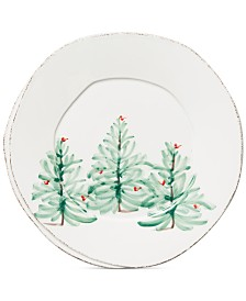 Vietri Lastra Christmas Tree Dinner Plate