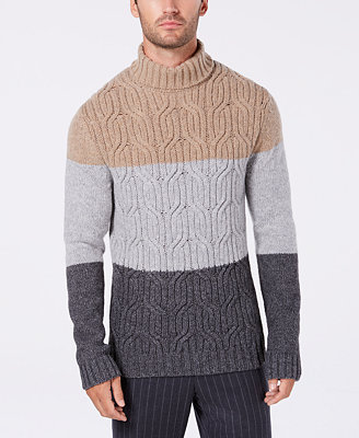 Men's Lux Colorblocked Turtleneck Sweater, Created For Macy's by Tasso Elba