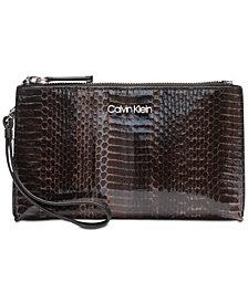 Calvin Klein Python Wristlet