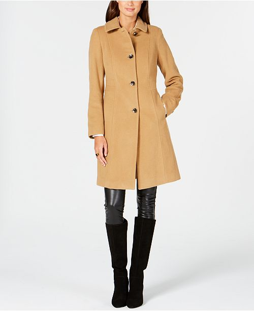 Anne Klein Seamed Walker Coat