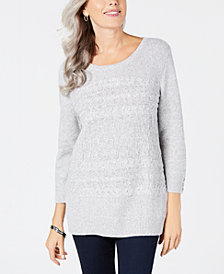 Karen Scott Crewneck Sweater, Created for Macy's