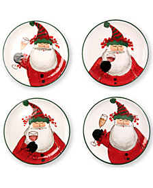 VIETRI Old St. Nick Cocktail Plates, Set of 4