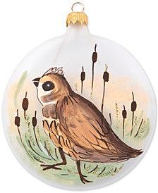 Vietri Wildlife Quail Glass Ornament