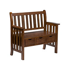 Century 3-Drawer Bench, Quick Ship