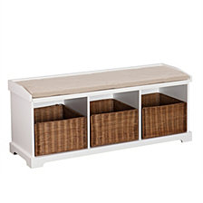 Loring Entryway Storage Bench, Quick Ship