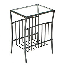 Contemporary Metal Magazine Table, Quick Ship
