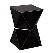 Justine Mirrored Accent Table, Quick Ship