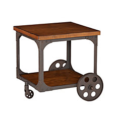CLOSEOUT! Owen Industrial Accent Table, Quick Ship