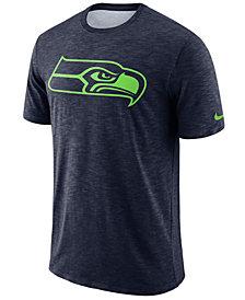 Nike Men's Seattle Seahawks Dri-Fit Cotton Slub On-Field T-Shirt
