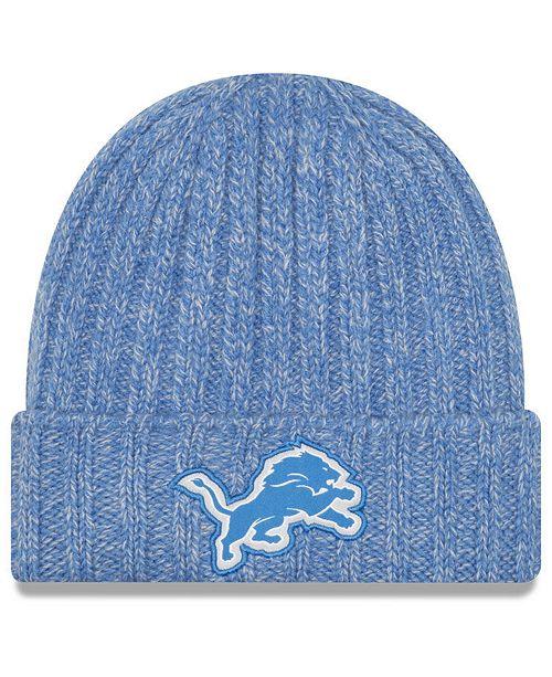 e3f7c0cabdc New Era Women s Detroit Lions On Field Knit Hat - Sports Fan Shop By Lids -  Women - Macy s