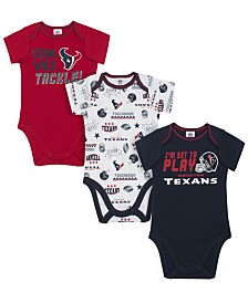 Gerber Childrenswear Houston Texans 3 Pack Creeper Set, Infants (0-9 Months)